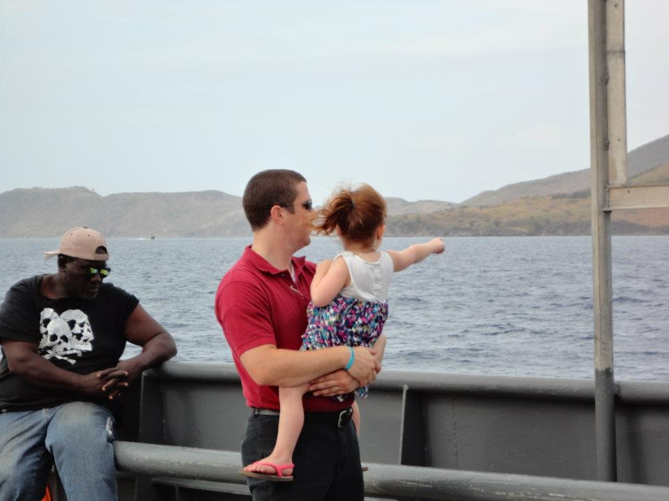 On the Ferry to Nevis