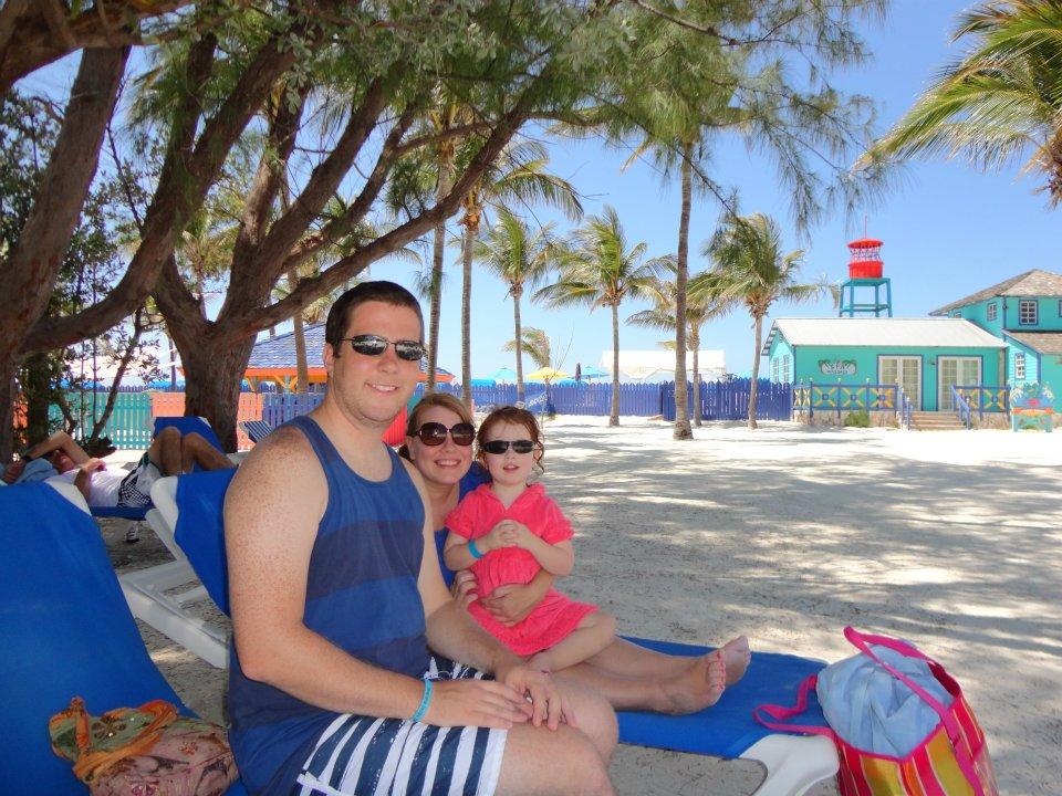 In Cocoa Cay with our Sunglasses