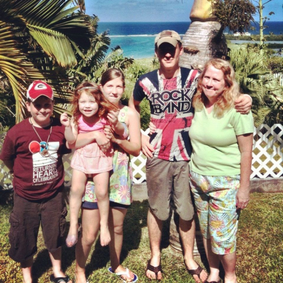 The Miller Family in St. Kitts