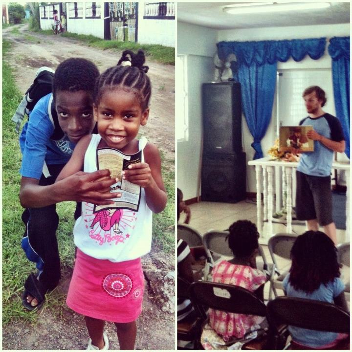 Nathan Teaching at a 5 Day Club in St. Kitts
