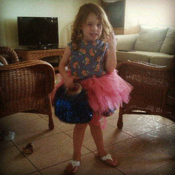 Maddy in Tutu with Her Purse
