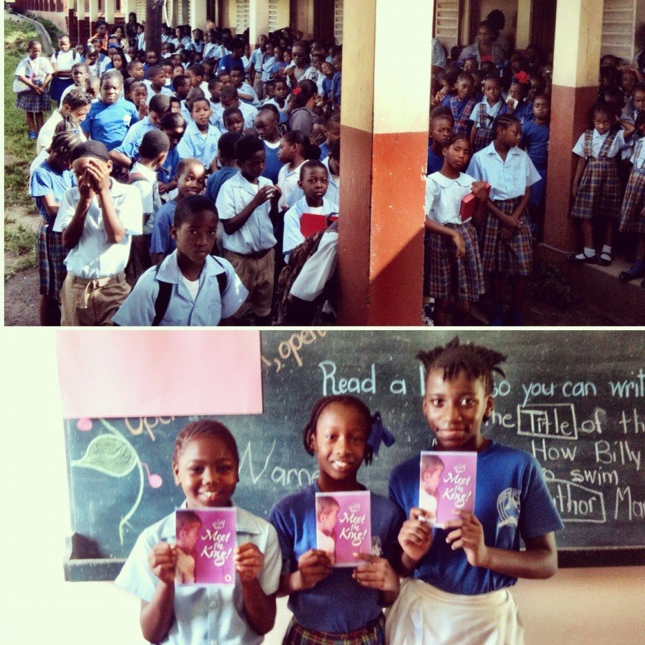 Primary Kids at Beach Allen School in St. Kitts Hear the Gospel and Get a 'Meet the King' Book