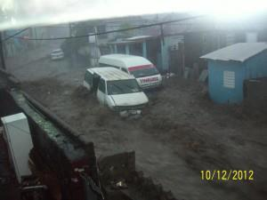 Tropical Storm Rafael in St. Kitts and Nevis