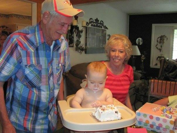 Mamaw and Papaw with Maddy