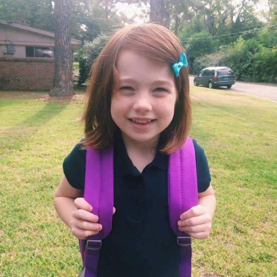 Maddy's first day at school