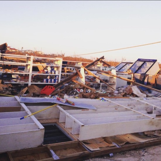 Damage from Hurrican Joaquin in the Bahamas